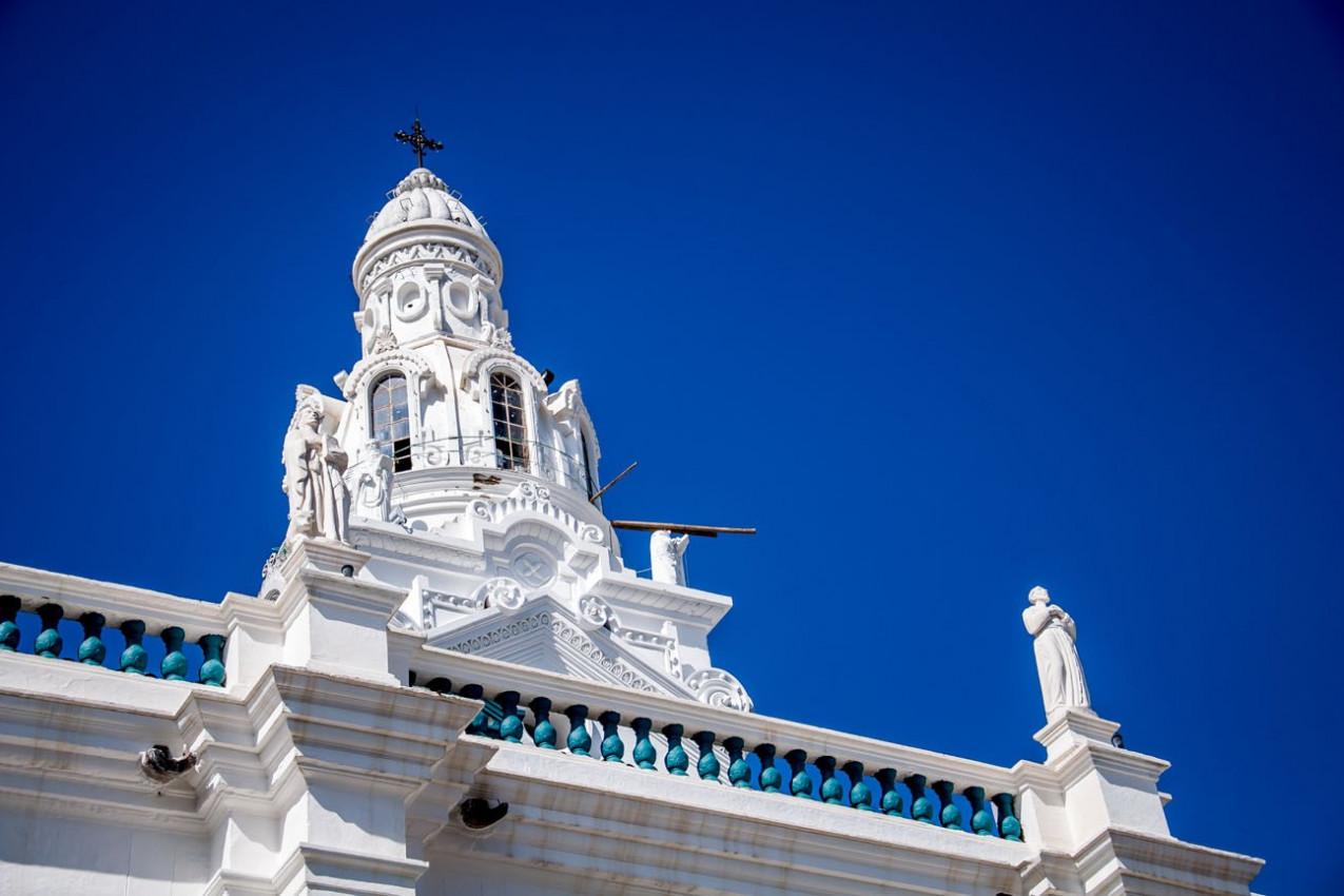 A Igreja de Santo Domingo em Quito