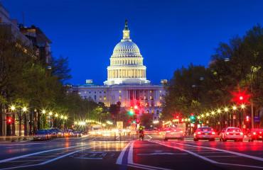 Capitolio de noite em Washington