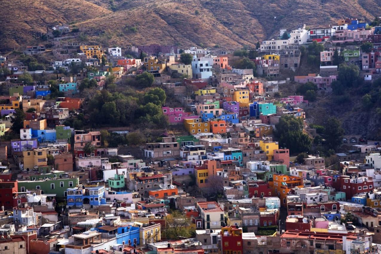 Casa coloridas em Guanajauto