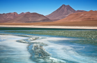 Laguna Diamante no Atacama