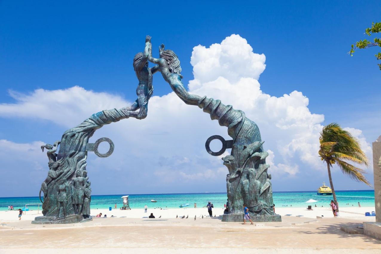 Portal Maya na Praia del Carmen na Riviera Maya