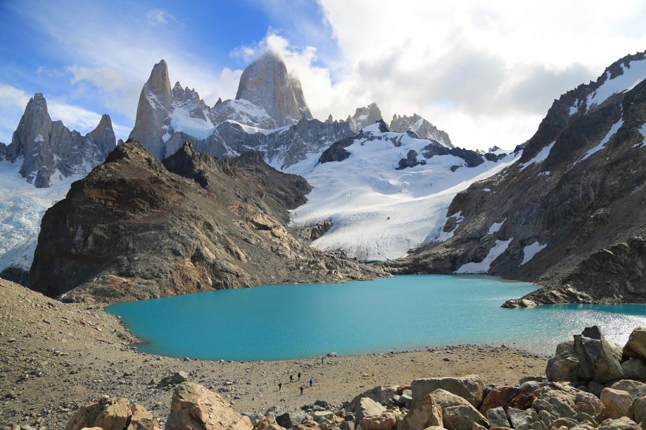 Três lago e o Parque Glaciares