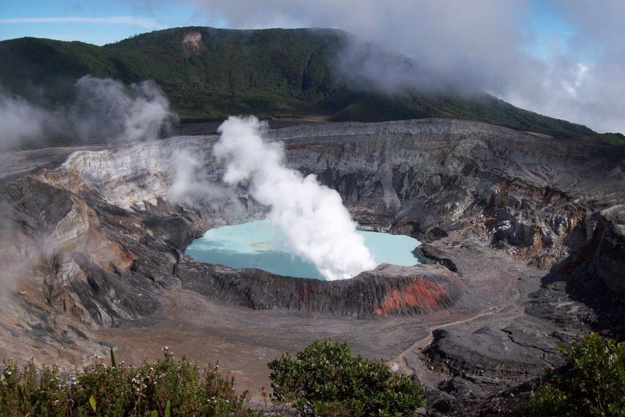 Vulcão Poás na Costa Rica