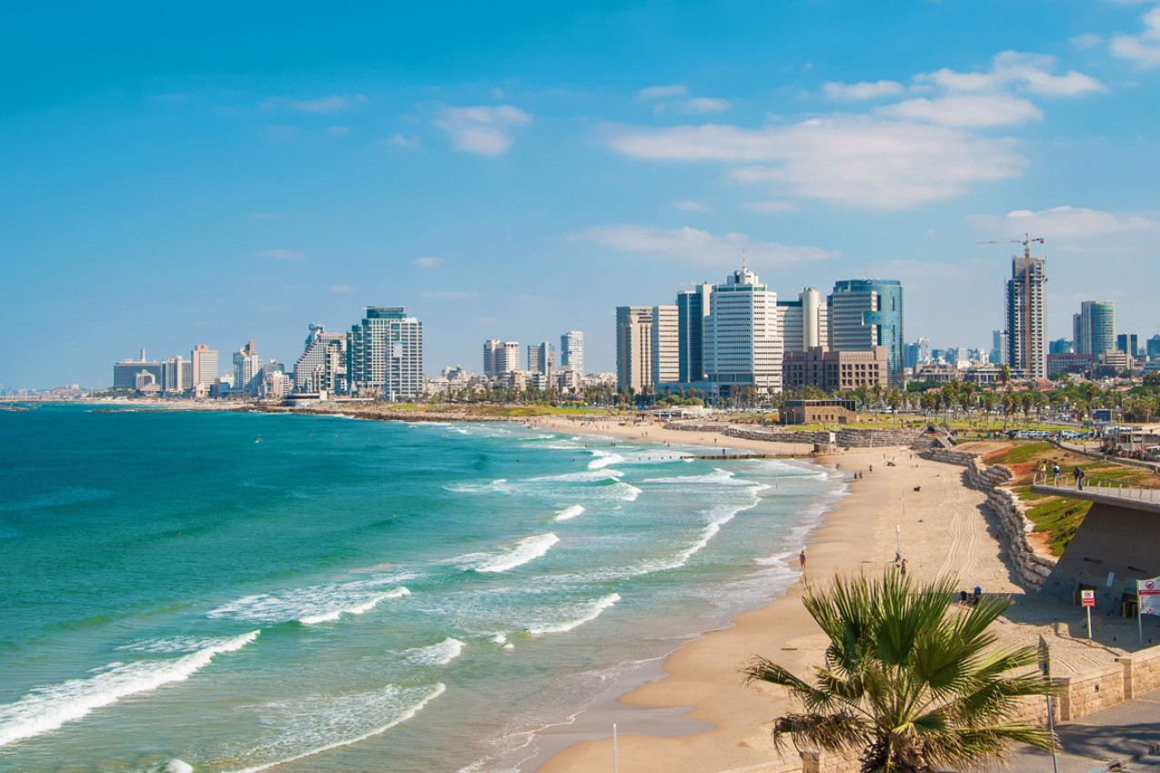 Praia em Israel