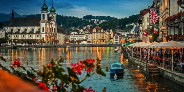 Suíça, Áustria, Danúbio e Croácia
