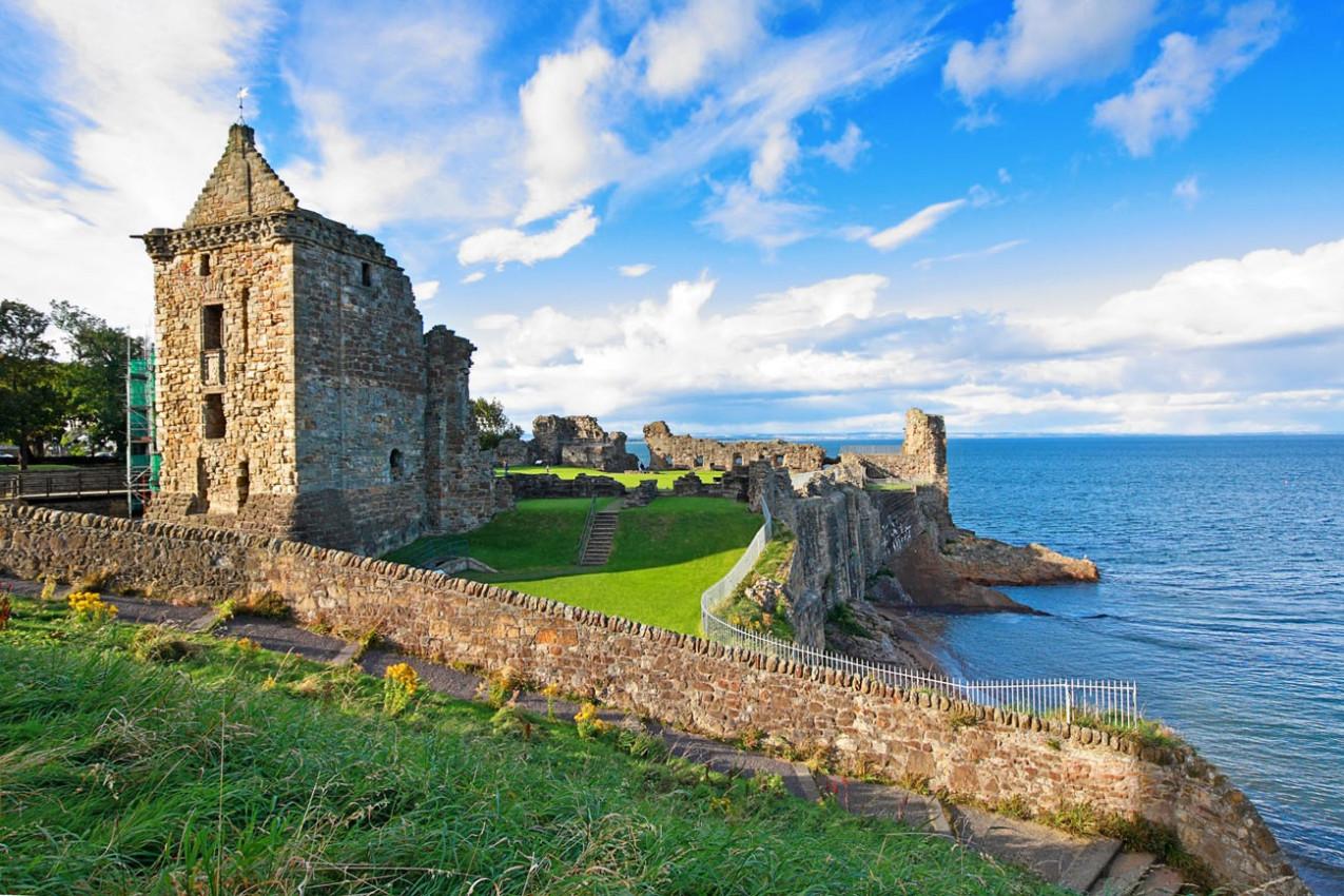 Ruínas do Castelo St Andrews, Fife, Escócia, Reino Unido