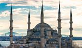 A Mesquita Azul, (Sultanahmet Camii), Istambul, Turquia.