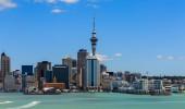 Arquitectura da cidade de Auckland, North Island, Nova Zelândia