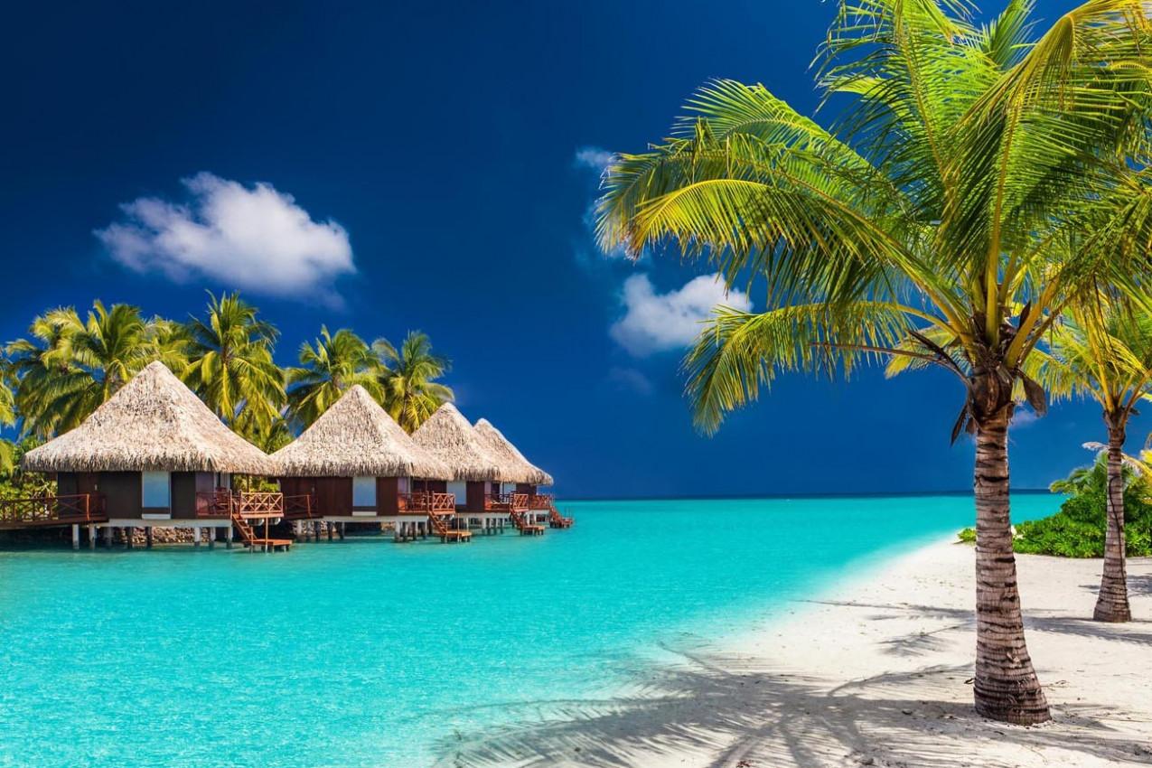 Bangalô nas Ilhas Maldivas