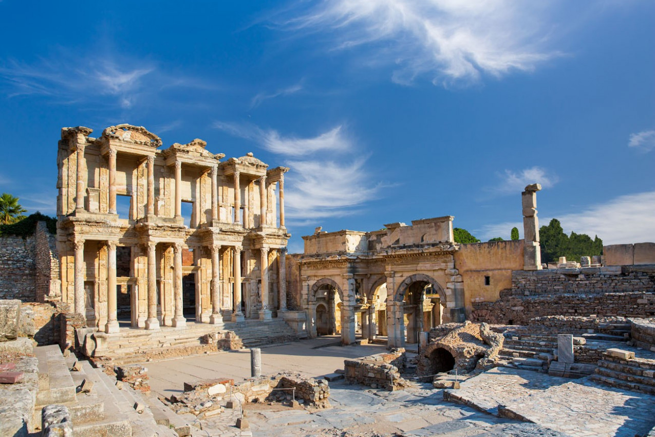 Biblioteca de Celsus em Éfeso, Turquia