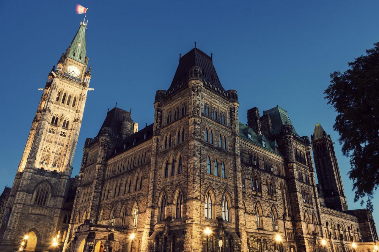 Canada Parliament Building at sunrise. Ottawa