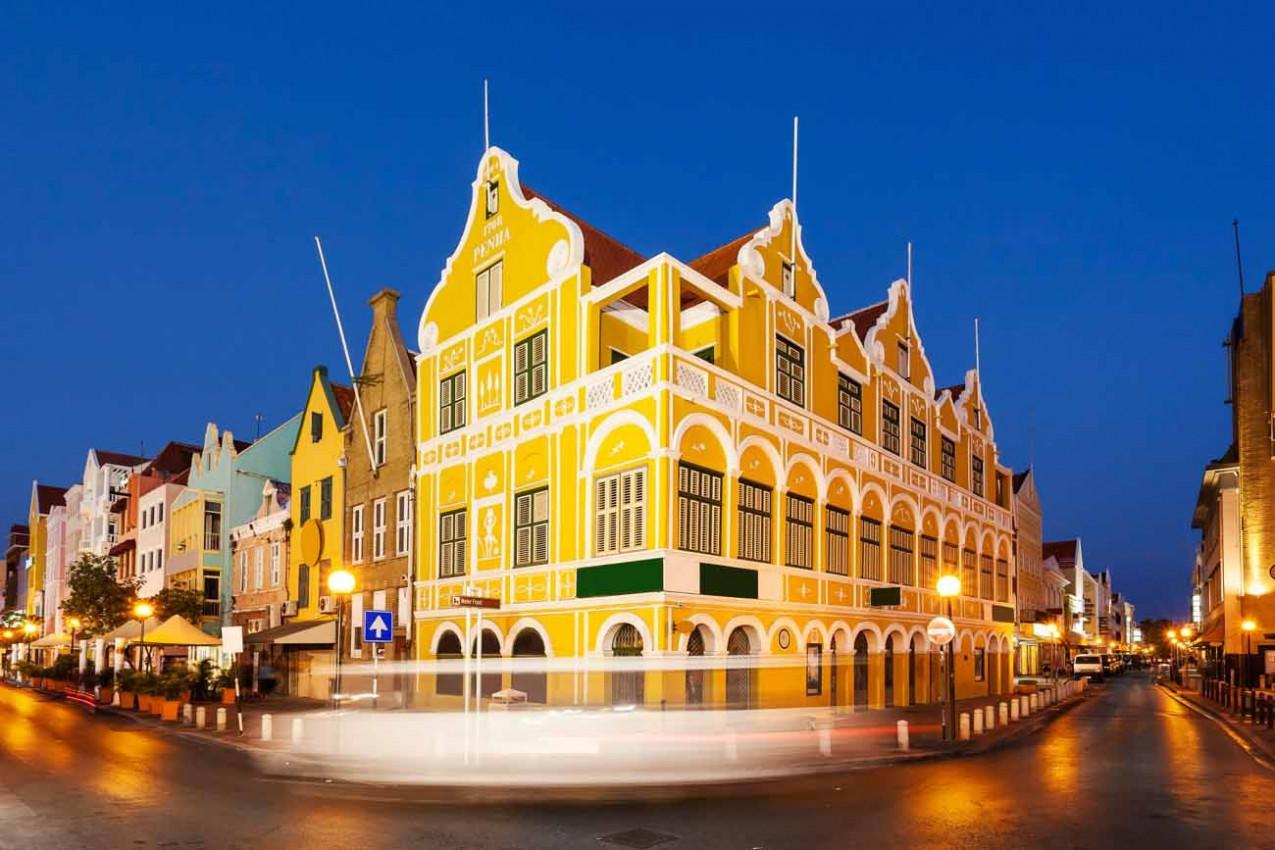 Centro de Willemstad em Curaçao