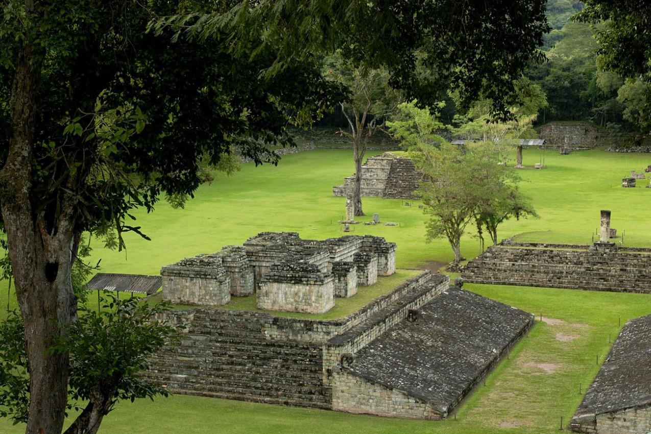 Copan, o sítio arqueológico de civilização maia , Honduras