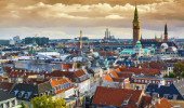 Copenhagen, Dinamarca vista aérea da cidade