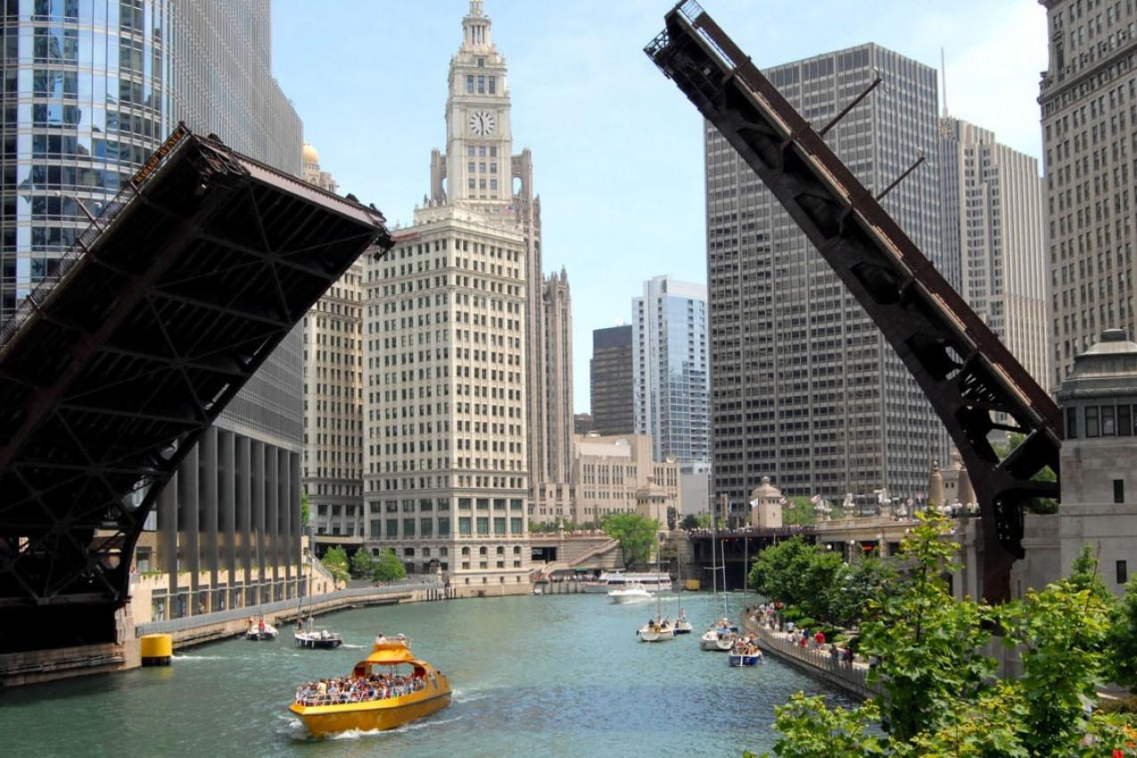 Downtown Chicago Waterfront, Illinois USA