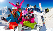 Esqui em familia no Valle Nevado