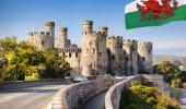 Famoso Castelo de Conwy em Wales, Reino Unido
