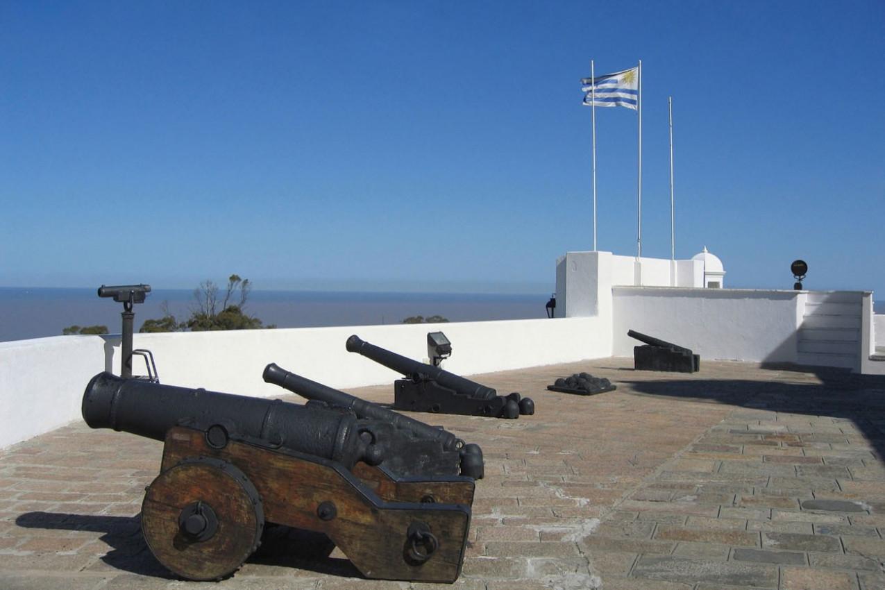 Forte com uma visão estratégica da Baia Montevideo