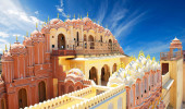 Hawa Mahal, o Palácio dos Ventos, Jaipur, Rajasthan, India