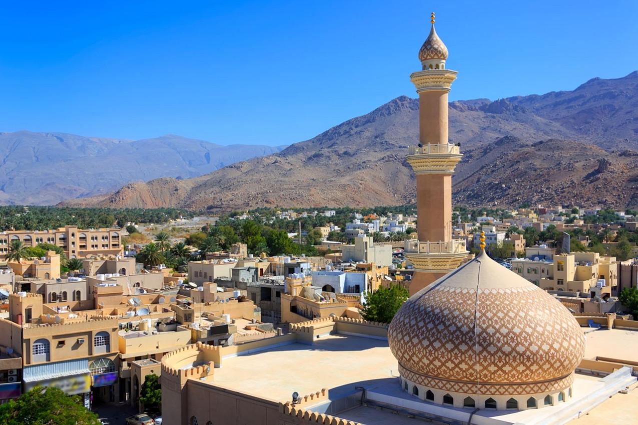 Lindo panorama de Nizwa, Omã