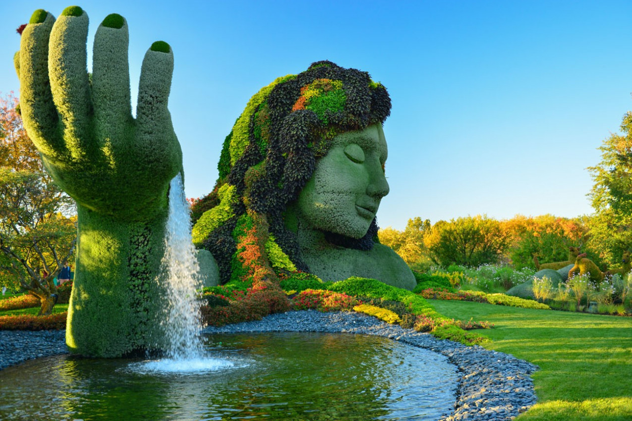 The Montreal Botanical Garden ,is considered to be one of the most important botanical gardens in the World