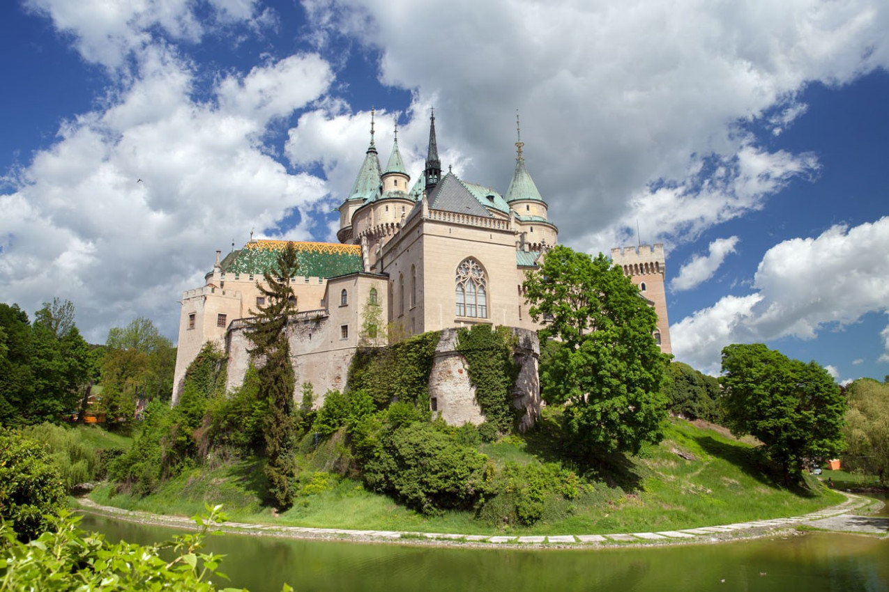 o castelo medieval, Bojnice, Eslováquia