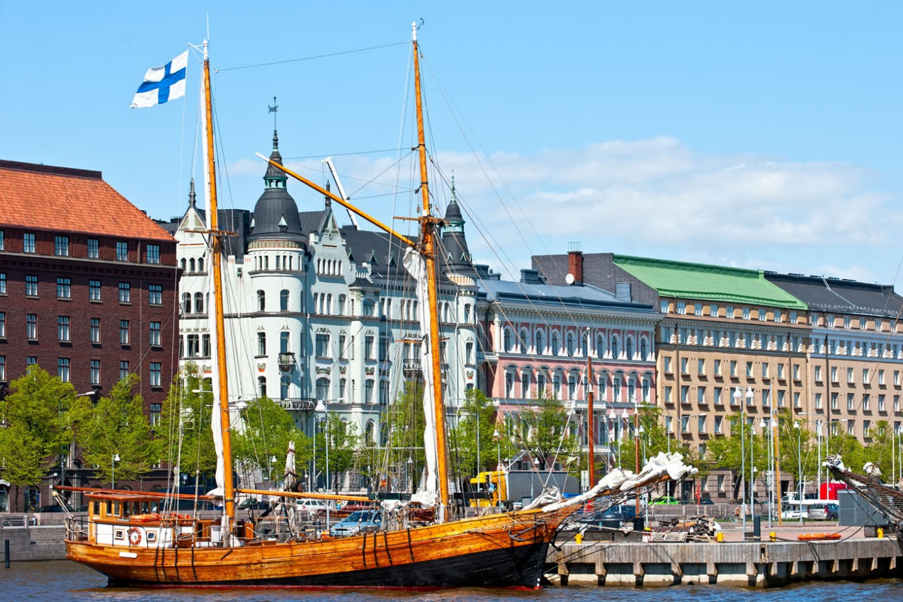 Old Helsinki na área da cidade velha.