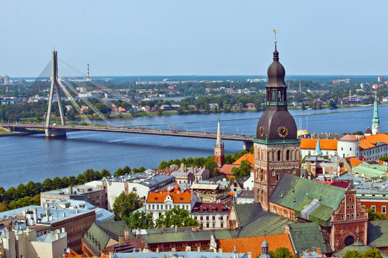 Panorama de Riga, Latvia