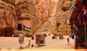 Petra na Jordânia, que é famosa atração turística mundo