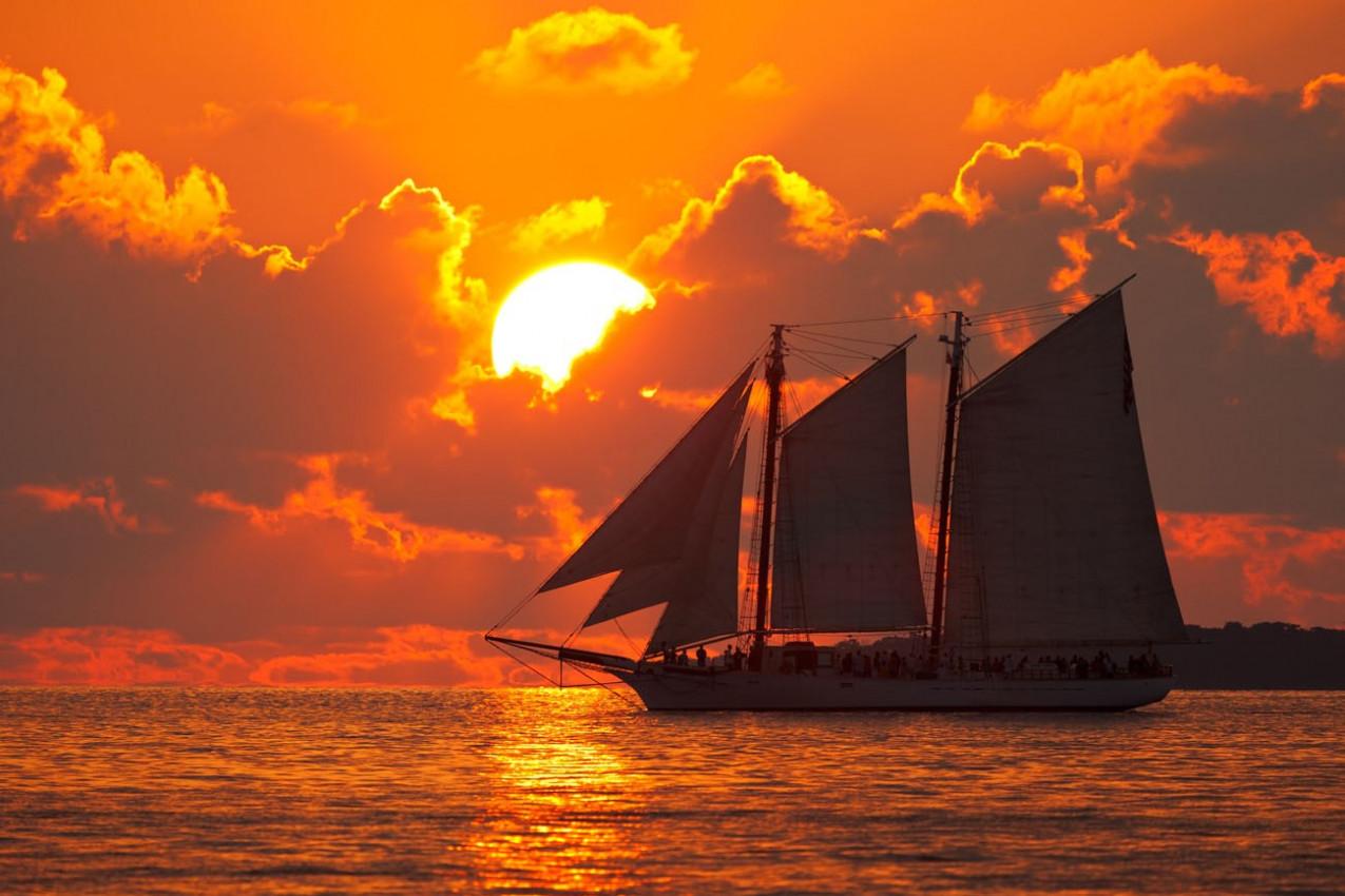 Por do sol em Key West