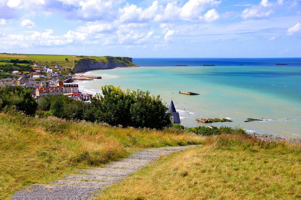 Praias de Arromanches les Bains, Normandia, França