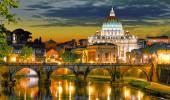 Roma, Itália, a catedral de St. Peter