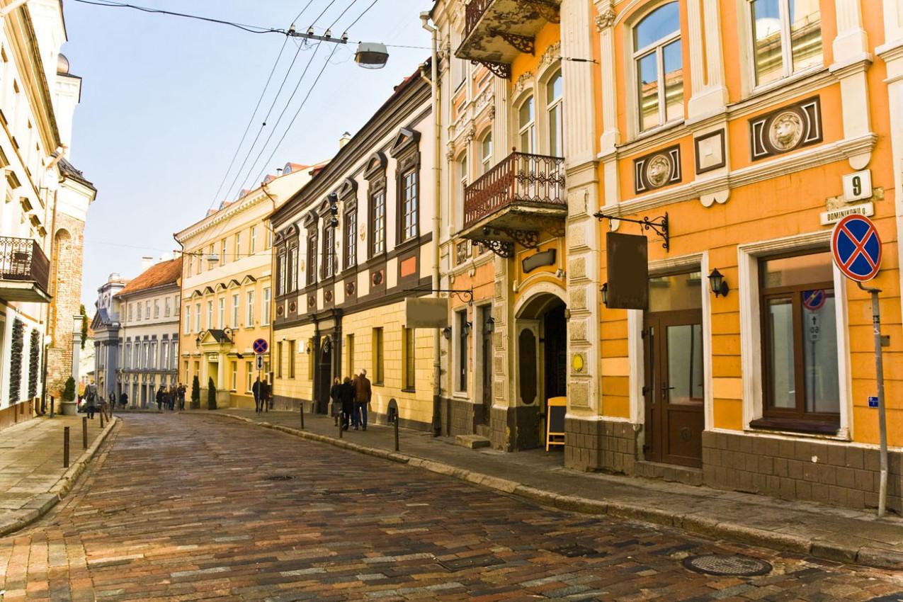 Rua Vilnius da cidade antiga, lituana