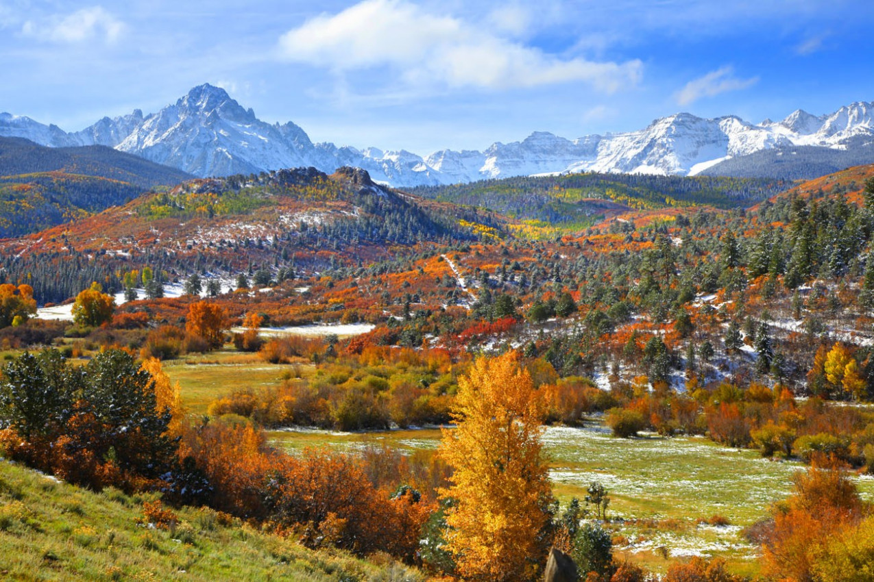 Scenic landscape near Ridgeway em Aspen