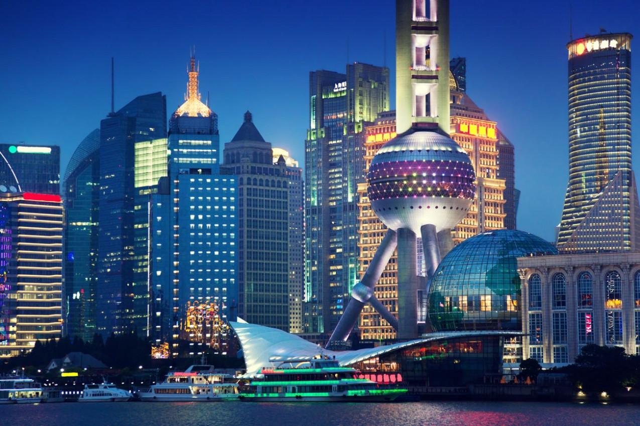 Shanghai a noite, China
