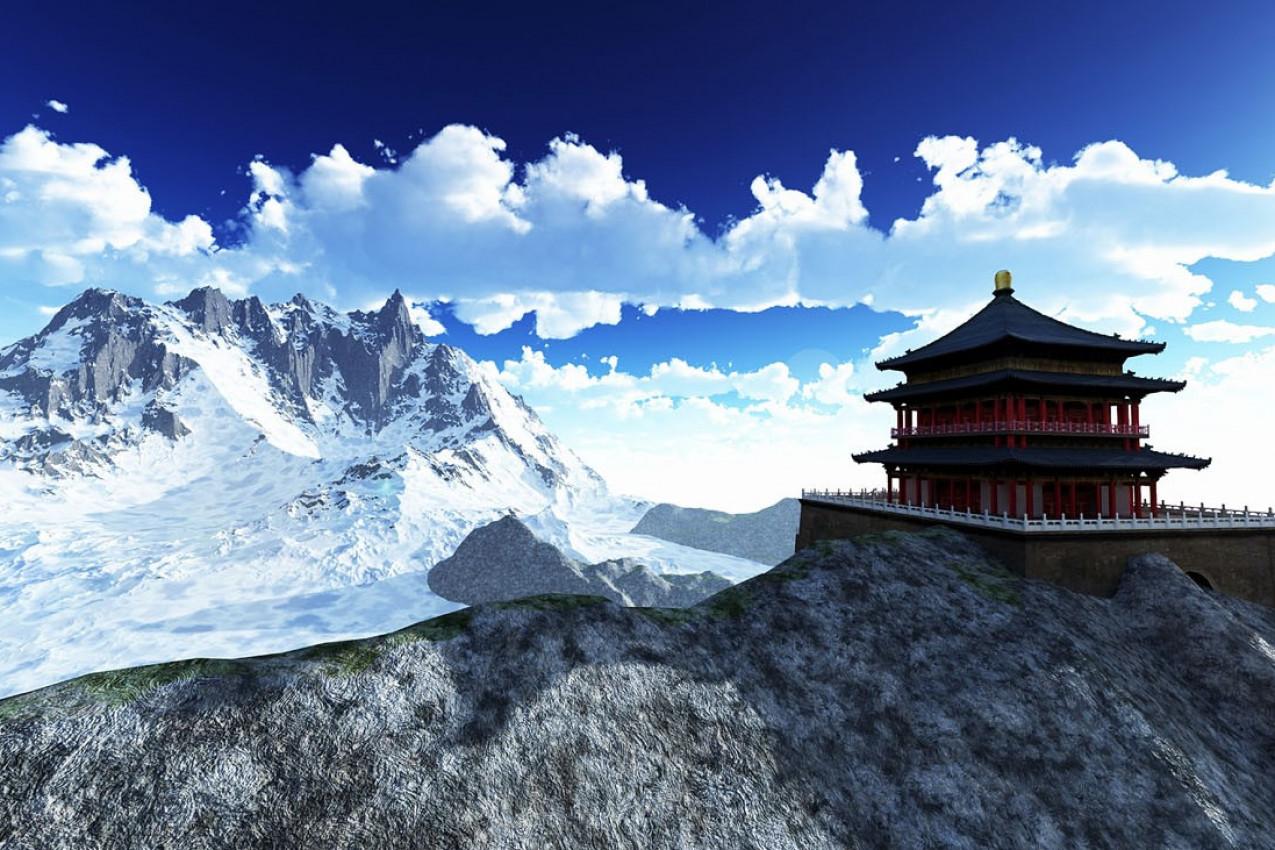 Templo do Sol budista no butão