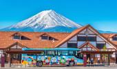 Thomas Bus na estação de Kawaguchiko, Um dos ônibus da Linha Fujikyu entre Shinjiku e Fujikyu Highlan