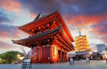 Tóquio - Sensoji-ji, templo em Asakusa, Japão