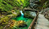 Vintgar Gorge e trajeto de madeira, Bled, Eslovénia
