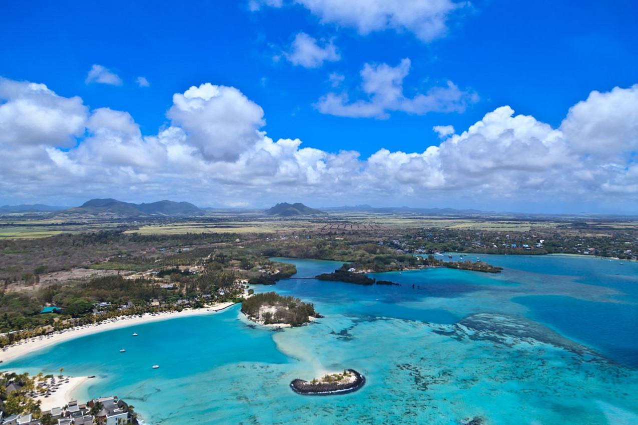 Vista Aérea das Ilhas Mauricio