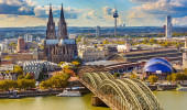 Vista aérea de Colônia, Alemanha