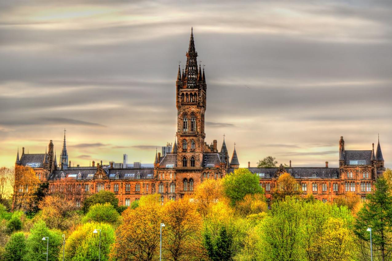 Vista da Universidade de Glasgow - Escócia