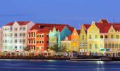 Vista de Groot St Martha em Curaçao