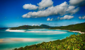 Whitehaven lagoa na praia do parque nacional de Queensland na Austrália